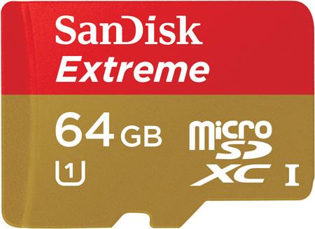 Карточки SanDisk Extreme microSDHC и microSDXC UHS-I имеют влагозащищенное, ударопрочное исполнение