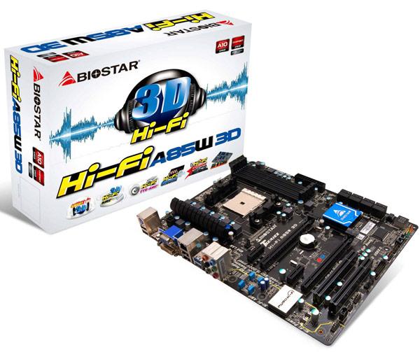 В плате Biostar Hi-Fi A85W 3D используется фирменная технология улучшения звука Biostar Hi-Fi 3D