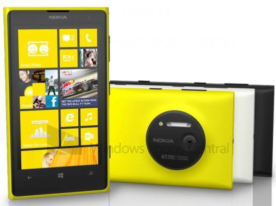 Смартфон Nokia Lumia 1020 будет доступен в черном, белом и желтом вариантах