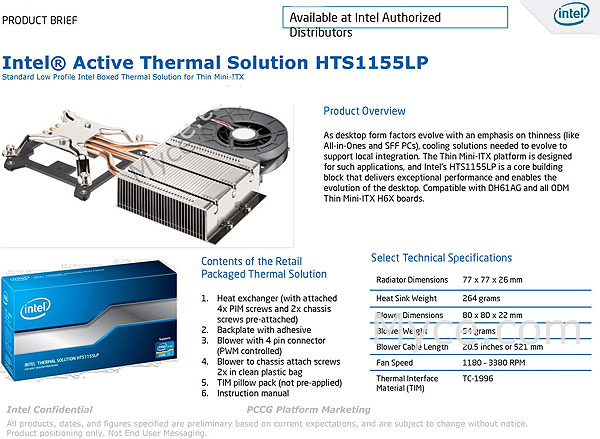 Intel Active Thermal Solution HTC1155LP