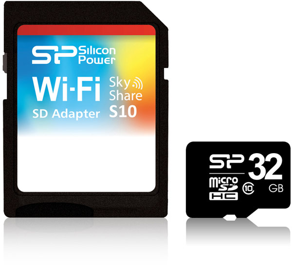 ����� SP/Silicon Power Sky Share S10 Wi-Fi SD ����� ���������� Class 10