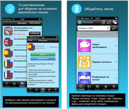 Slovoed Traveller's для iPhone, iPad и iPod Touch