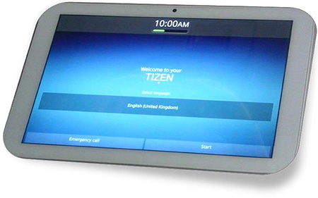 10-дюймовый планшет Systena под управлением ОС Tizen