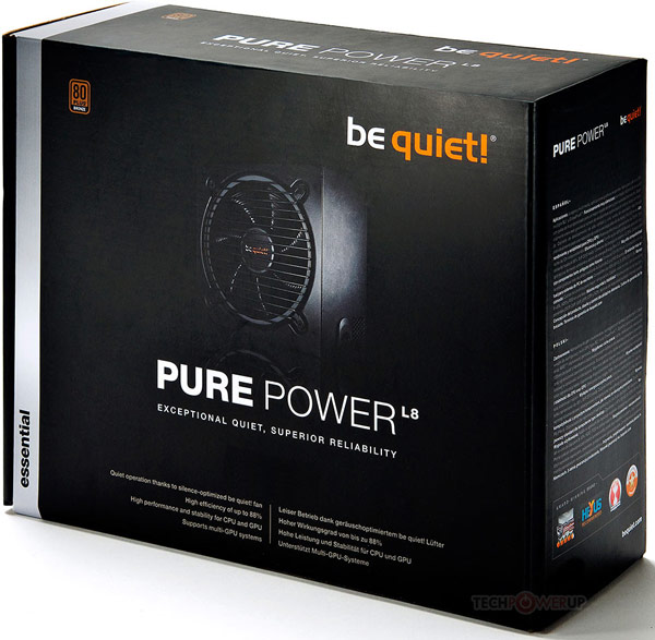 Блоки питания Be Quiet! Pure Power L8 имеют сертификат 80Plus Bronze