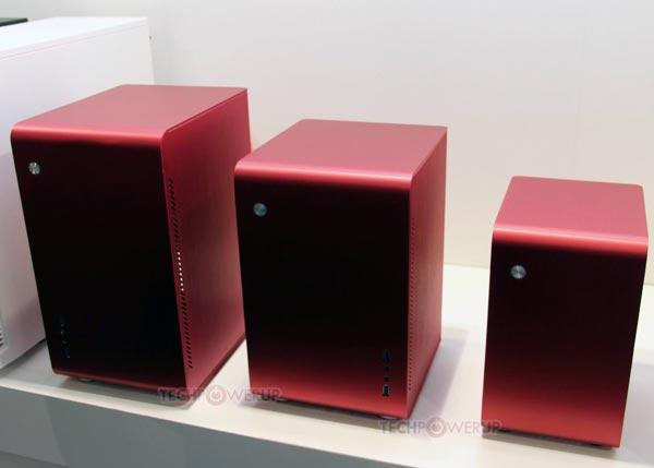Алюминиевые корпуса Jonsbo U1, U2 и U3 предложены в черном, красном и серебристом вариантах