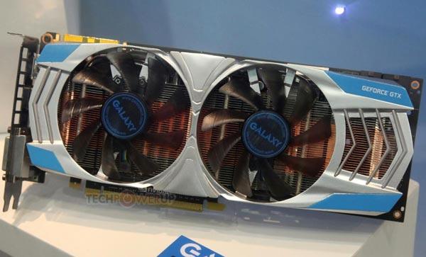 Радиатор 3D-карты Galaxy GeForce GTX 780 Twin Fan включает медные и алюминиевые пластины