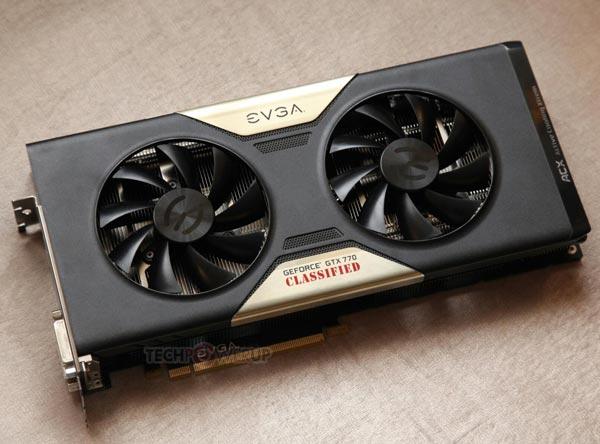 Значения тактовых частот компонентов 3D-карт EVGA GeForce GTX 780 Classified и GTX 770 Classified производитель не раскрывает