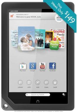 Компания Barnes & Noble до 17 июня снизила стоимость на планшеты NOOK HD и NOOK HD+