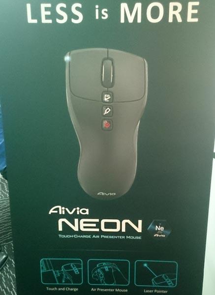 Gigabyte привезла на Computex 2013 беспроводную мышь для презентаций Aivia Neon