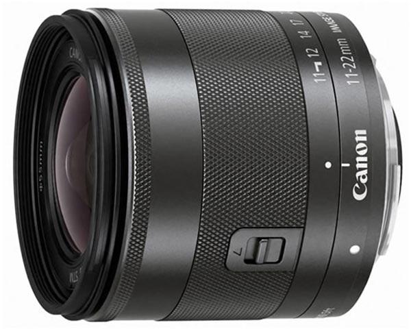 Объектив Canon EF-M 11–22mm f/4–5.6 IS STM оценен в 399 евро
