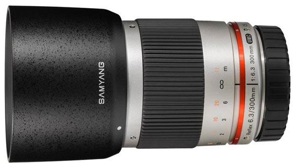 Объектив Samyang Reflex f/6.3 300mm ED UMC CS рассчитан на ручную фокусировку