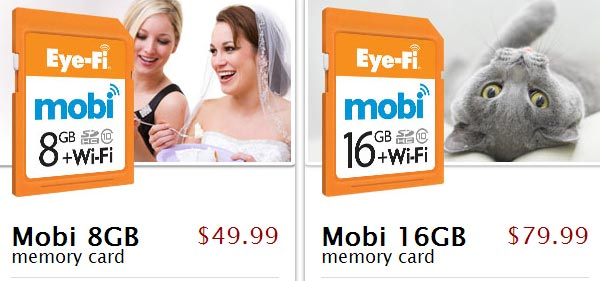 Карточки Eye-Fi Mobi имеют маркировку Class 10