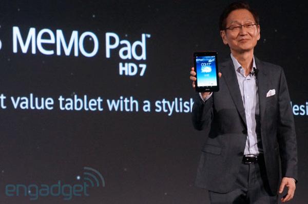 Джонни Ши представил планшет MeMo Pad HD 7