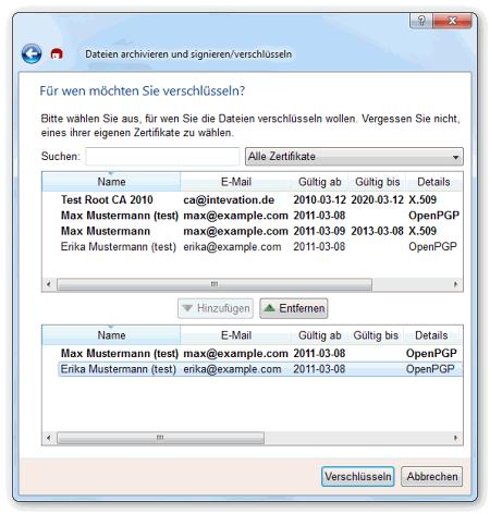 Интерфейс программы Gpg4win