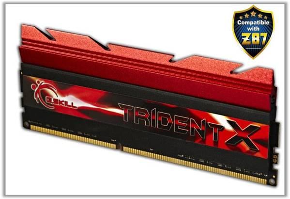 Наборы модулей памяти G.Skill TridentX DDR3-3000 предназначены для систем на процессорах Intel Core четвертого поколения и чипсетах Z87