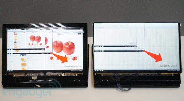 Компания Sharp использует в панелях высокого разрешения технологию IGZO