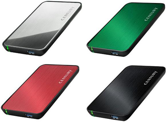 Корпуса Century Japan CSS25U3x6G рассчитаны на SSD или HDD типоразмера 2,5 дюйма