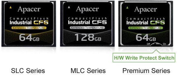 Apacer выпускает карты памяти Industrial CF6 объемом до 128 ГБ