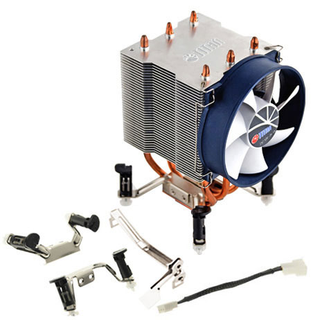 Охладитель Titan TTC-NK35TZ/RPW/V3 совместим с процессорами AMD и Intel