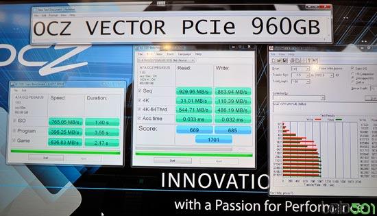 SSD OCZ Vector с интерфейсом PCI Express развивает скорость чтения 930 МБ/с
