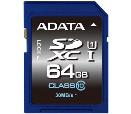 ADATA включает в серию Premier карты памяти SDHC, SDXC, microSDHC и microSDXC, соответствующие спецификации UHS-I