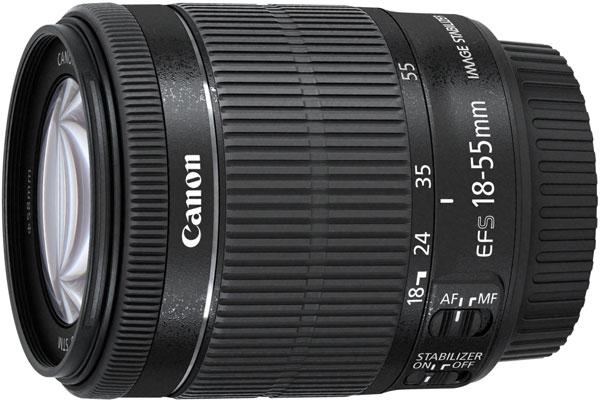 Объектив Canon EF-S 18-55mm f/3.5-5.6 IS STM оснащен шаговым приводом фокусировки