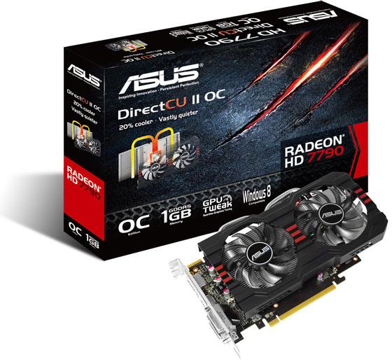 Asus оснащает 3D-карты Radeon HD 7790 охладителями DirectCU II