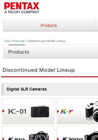 Камера K-01 не продержалась в ассортименте Pentax и года