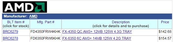 Процессоры AMD FX-4350 и FX-6350 построены на архитектуре Piledriver