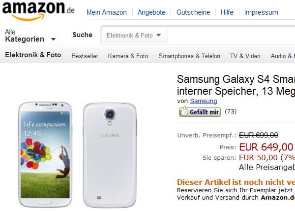 Производитель проговорился о цене Samsung Galaxy S4
