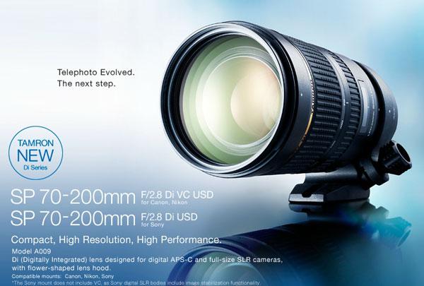 Продажи объектива Tamron 70-200mm f/2.8 VC USD с байонетом Nikon F начнутся 28 марта