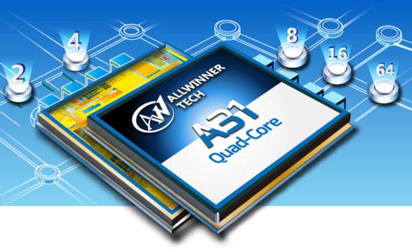 Процессор Allwinner A31s имеет четыре ядра Cortex-A7 и пятое энергосберегающее ядро