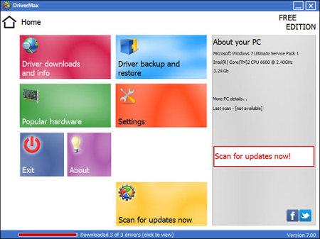 Скриншот окна программы DriverMax