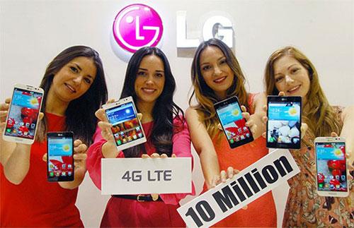 Продажи смартфонов LG с поддержкой LTE перевалили отметку в 10 млн