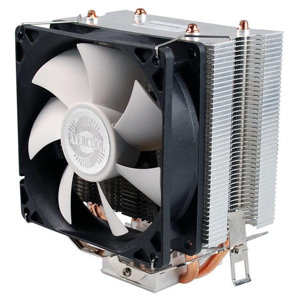 Конструкция охладителя Evercool HPR 9225EA включает две тепловые трубки, рассчитанные на непосредственный контакт с процессором