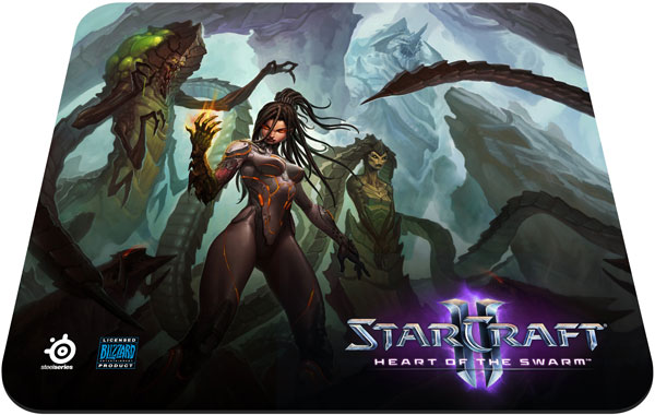 Коврик SteelSeries QcK Heart of the Swarm Kerrigan Edition стоит $15