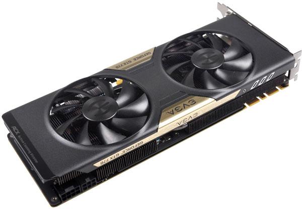EVGA выпустила шесть моделей 3D-карт GeForce GTX 770 с кулером ACX и четыре модели GTX 770 с референсным кулером