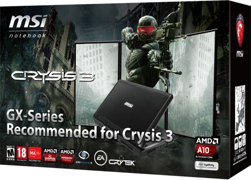 MSI GX70 рекомендован для Crysis 3