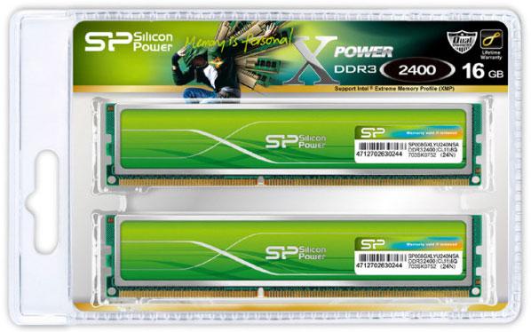 Модули памяти Silicon Power Xpower DDR3 Overclocking DDR3-1600, DDR3-1866, DDR3-2133 и DDR3-2400 снабжены радиаторами
