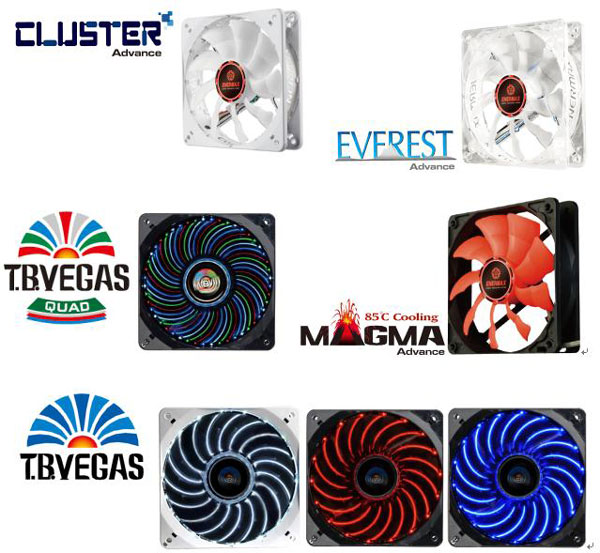 ����� ����������� Enermax ����� Cluster Advance, Everest Advance, Magma Advance, T.B.Vegas Quad � T.B.Vegas ����� ���������� 120 ��