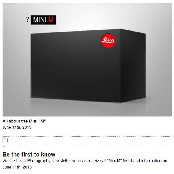 По предварительным данным, камера Leica Mini M будет выпускаться в Германии