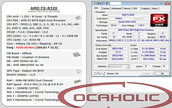 AMD FX-8570 засветился в CPU-Z