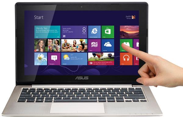Примерно 70-80% поставок ноутбуков, оснащенных сенсорными экранами, приходится на долю Acer и Asustek