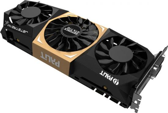 Охладители 3D-карт GeForce GTX 770 JetStream имеют по три вентилятора
