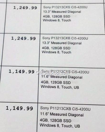 Новые Sony Vaio P, спецификации