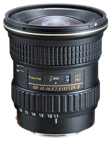 Объектив Tokina AT-X 116 PRO DX II предназначен для камер с датчиком изображения формата APS-C