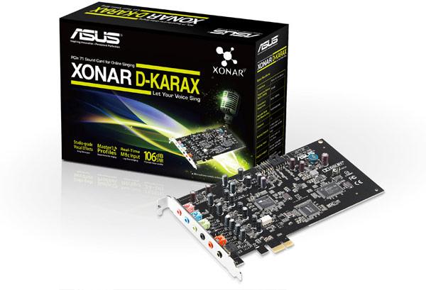 Звуковая плата Asus Xonar D-KARAX адресована любителям караоке