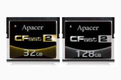 Карты памяти Apacer CFast 2.0 промышленного класса развивают скорость до 310 МБ/с