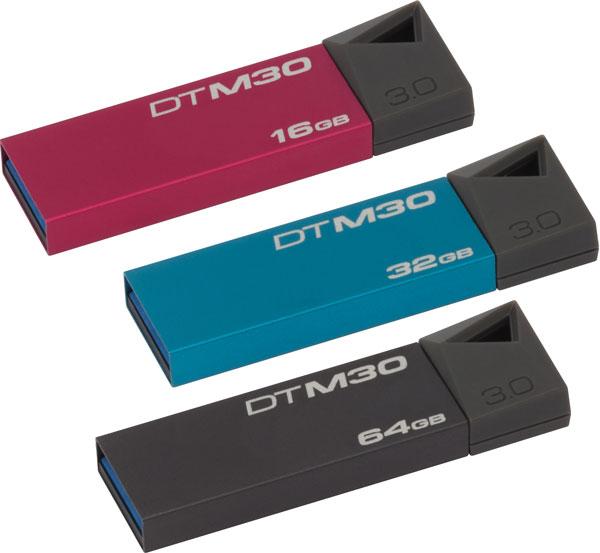 Накопители Kingston Digital DataTraveler Mini 3.0 выпускаются объемом 16, 32 и 64 ГБ