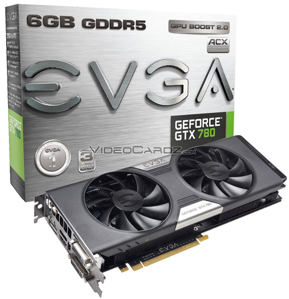 ���������� EVGA GeForce GTX 780 � 6 �� ������